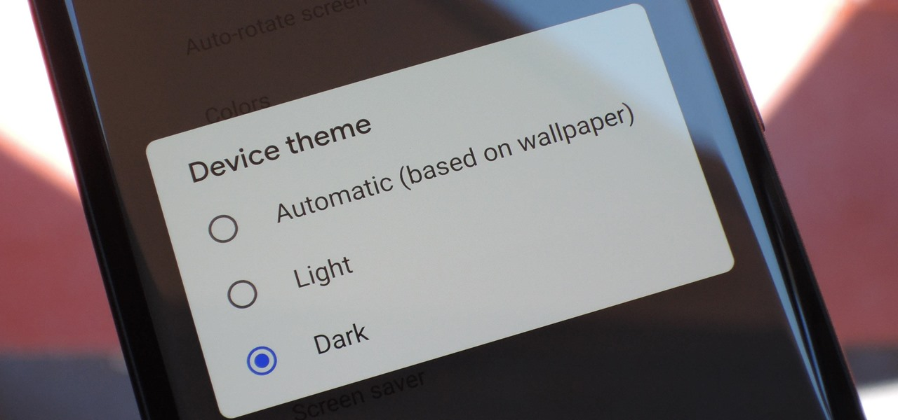 How To: Enable Android 9.0 Pie's New Manual Dark Theme on Your Google Pixel