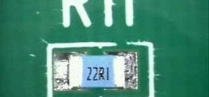 Install and solder a 0805 chip compontent