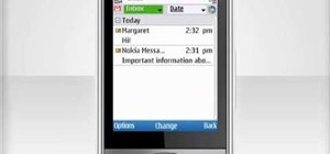 Set up an email account on a Nokia C5 mobile phone