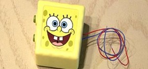 Pull a noisy car ignition SpongeBob toy prank