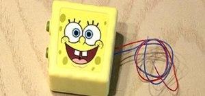 Pull a noisy car ignition SpongeBob toy prank
