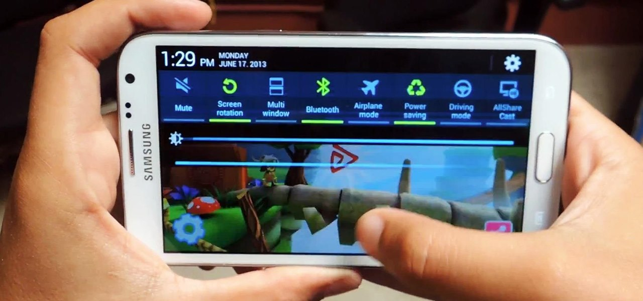 Enable Single-Swipe Notifications in Full-Screen Apps on Your Samsung Galaxy Note 2