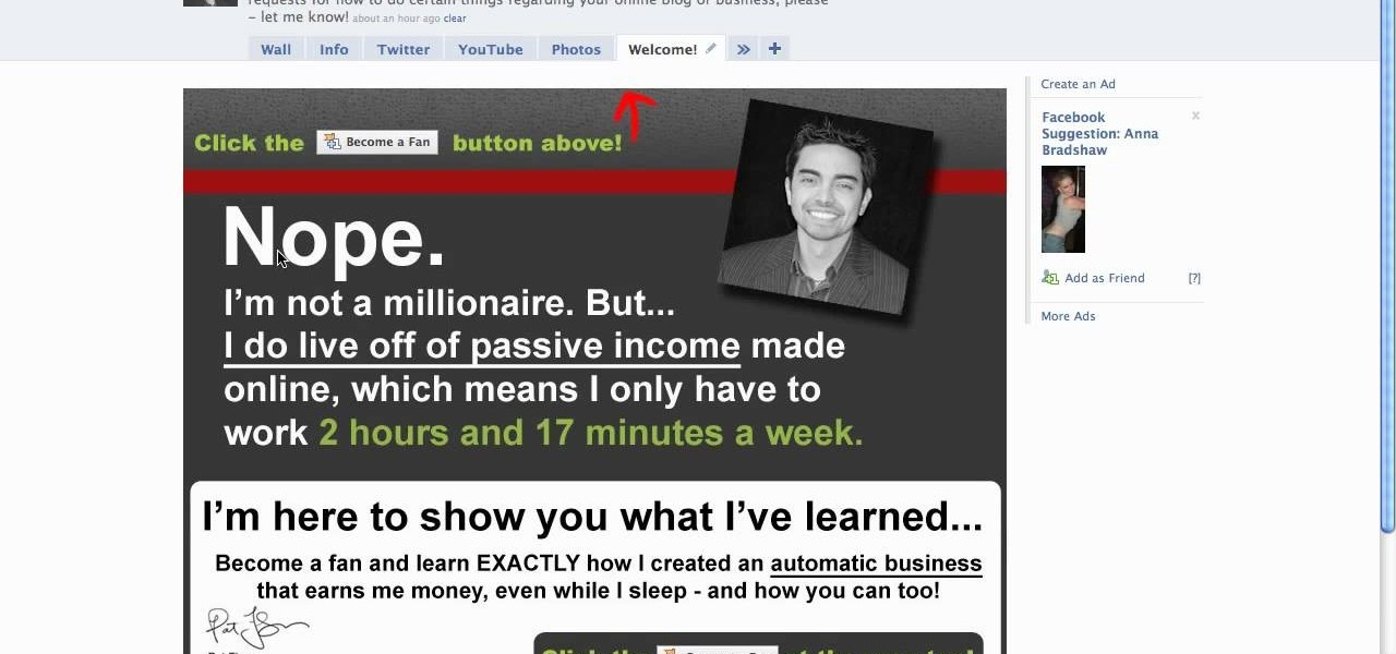how to create a landing page on facebook