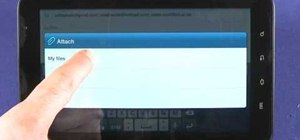 Send and read emails and SMS text messages on a Samsung Galaxy Tab