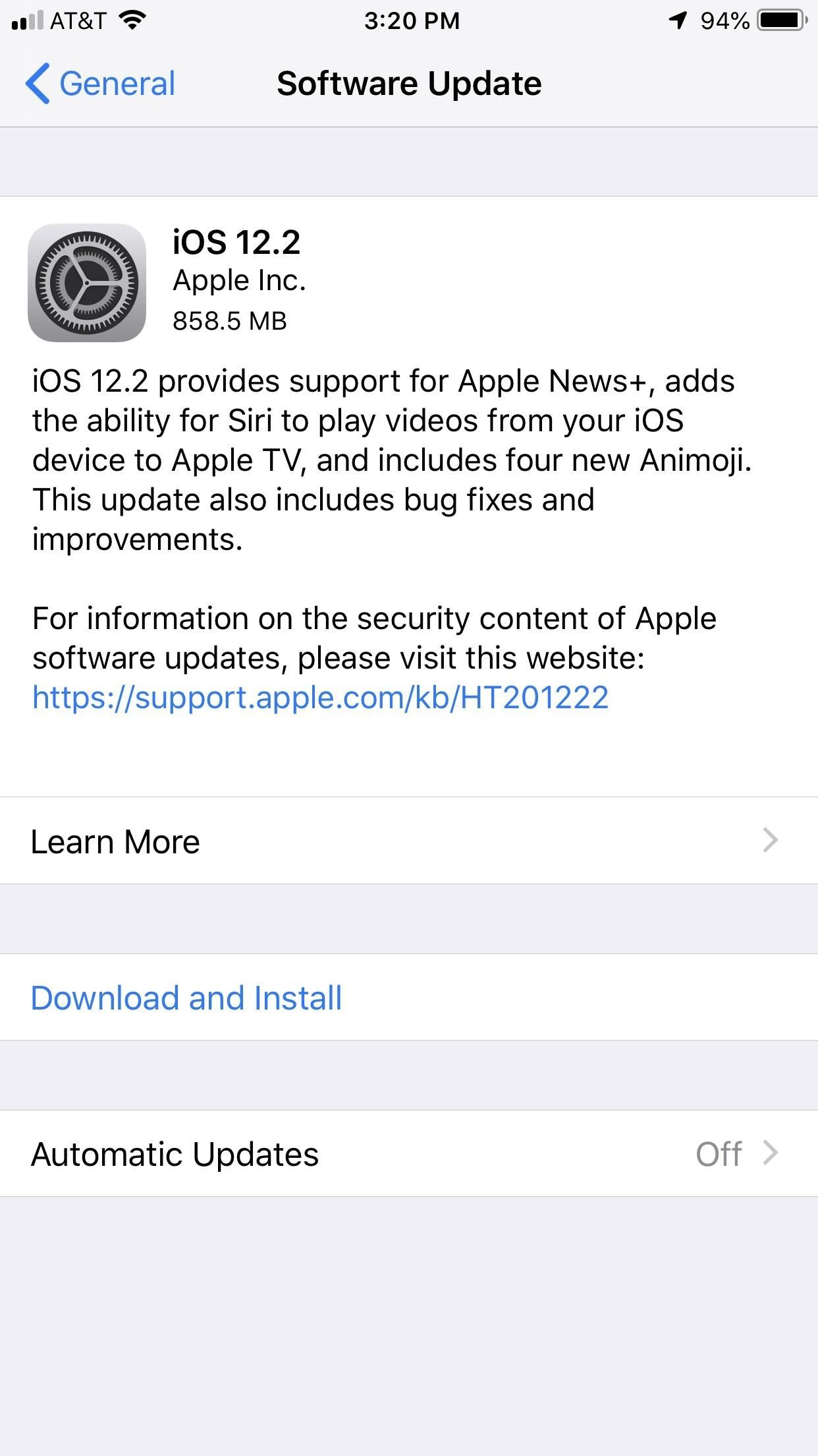 Apple Just Released iOS 12.2 for iPhone