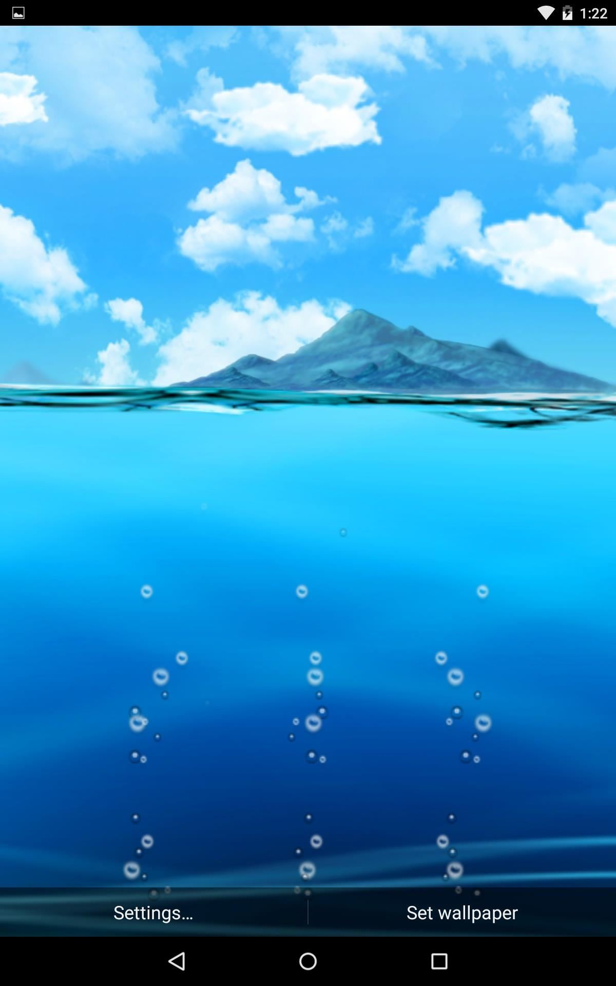 also included in this menu is a previous asus live wallpaper called asus livewater which includes various water animations and the ability to set your own