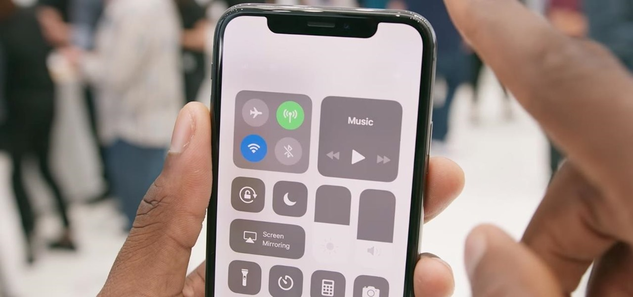 Open the Control Center on the iPhone X