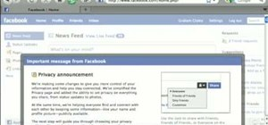 Protect yourself with Facebook's new privacy settings