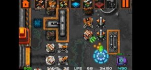 Play the Comets and Craters iPhone tower defense game