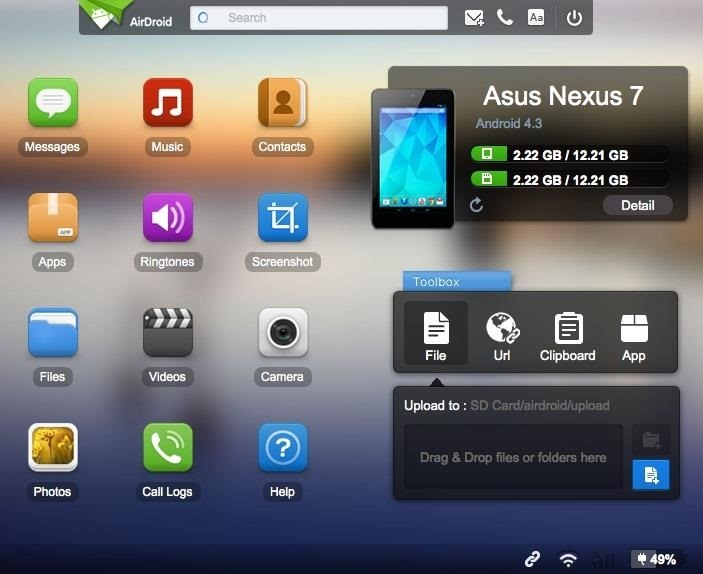 The Easiest Way to Transfer Files Wirelessly from Your Nexus 7 to Your Computer (& Vice Versa)