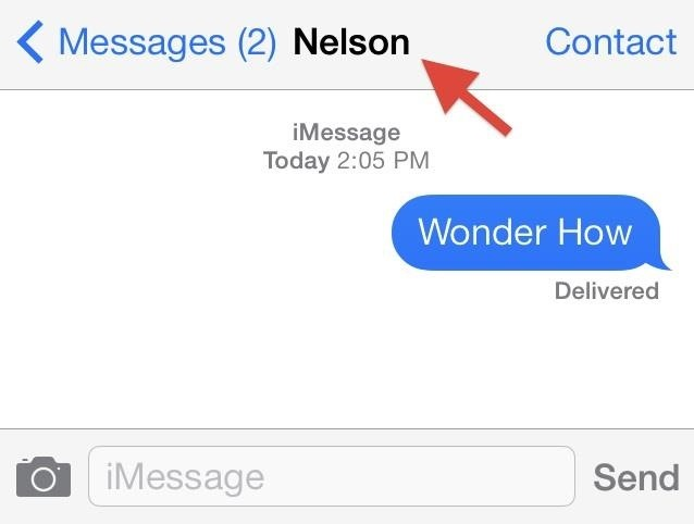 Who Is This? How to Display Full Contact Names in the iOS 7 Messages App