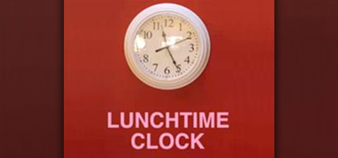 How to Hack Your Office Clock For Extra Lunch Time « Hacks, Mods