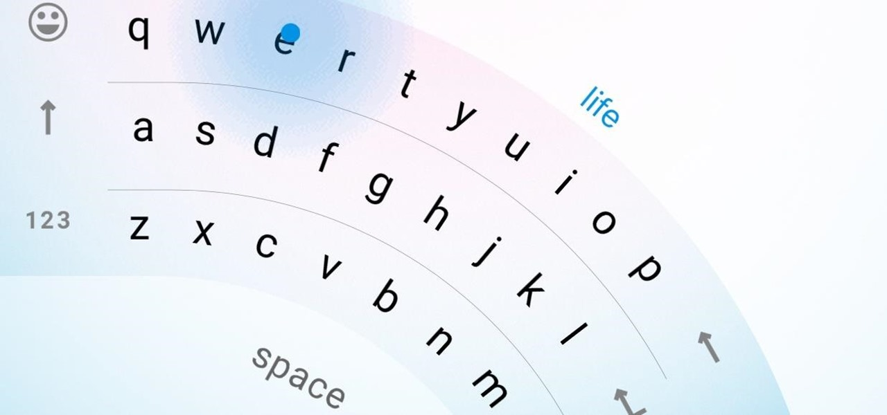 How to get swiping animations on iphone keyboard