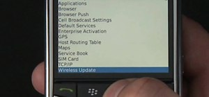 Downgrade the software on your BlackBerry phone over WiFi