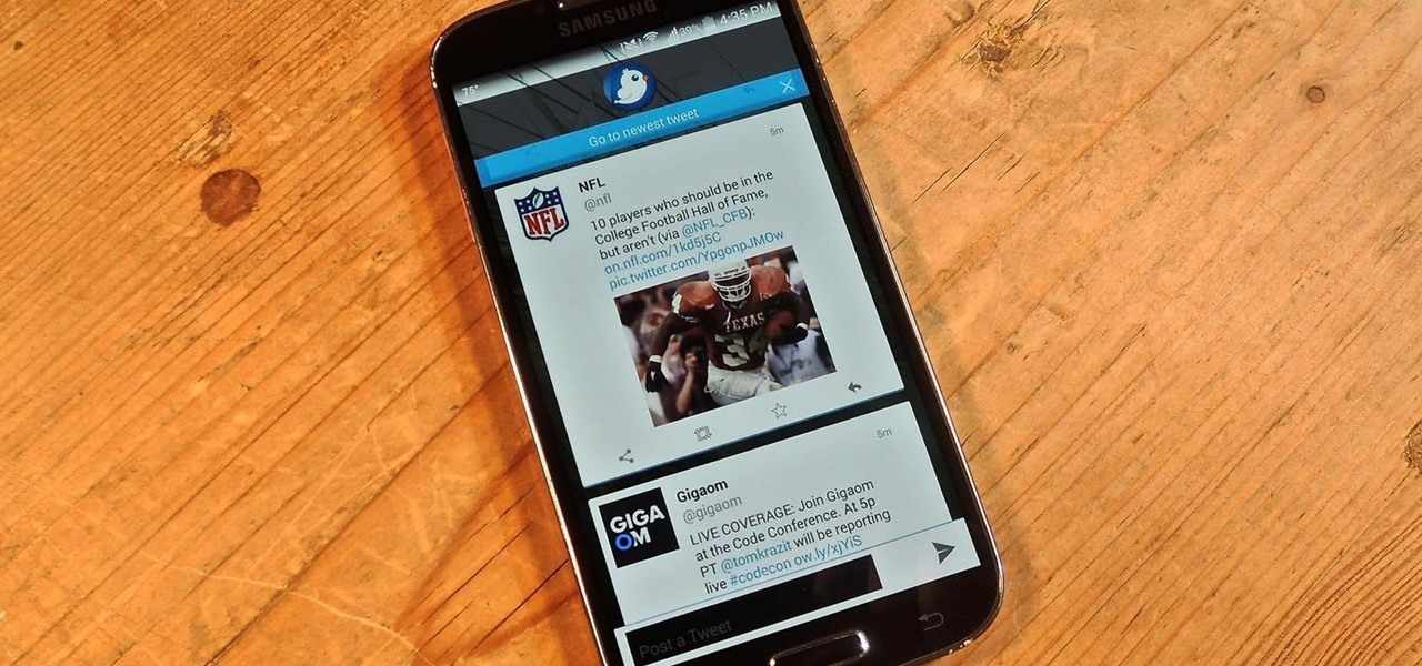 View Your Twitter Feed Faster & Tweet from Anywhere on Your Samsung Galaxy S4