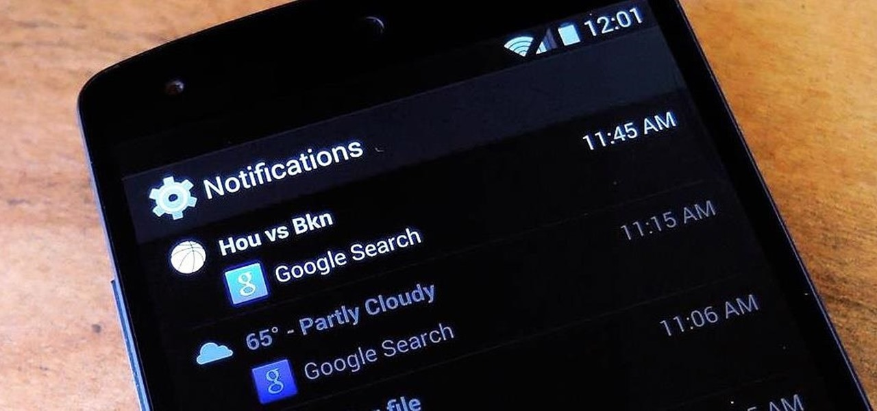 Unlock the Hidden Notification History Menu on Your Nexus 5