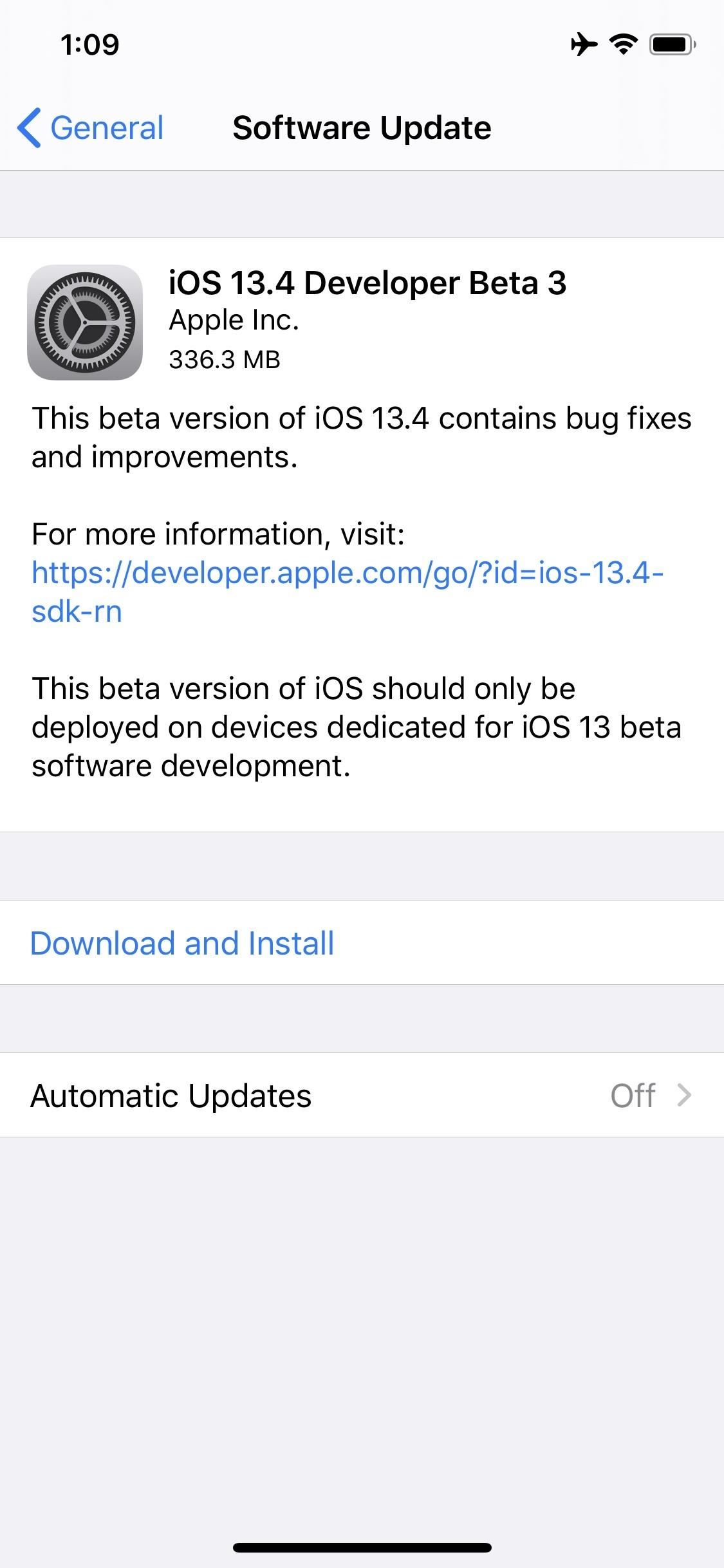 Apple Releases iOS 13.4 Developer Beta 3 for iPhone, Introduces First Evidence of Internet-Based 'OS Recovery' Mode