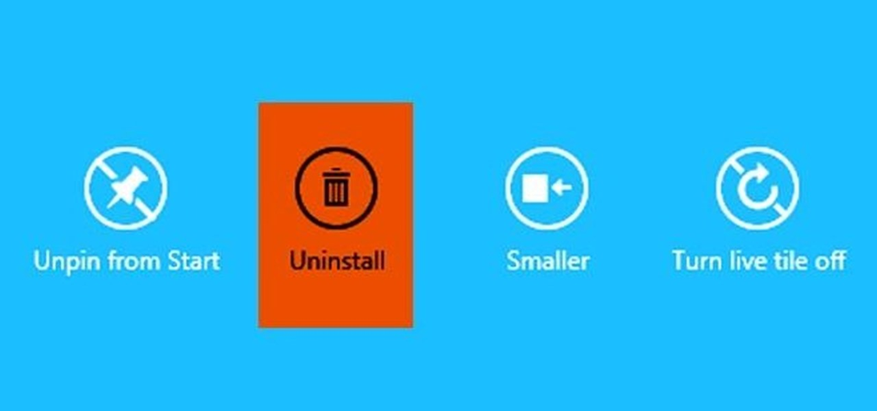 Uninstall Applications in Windows 8