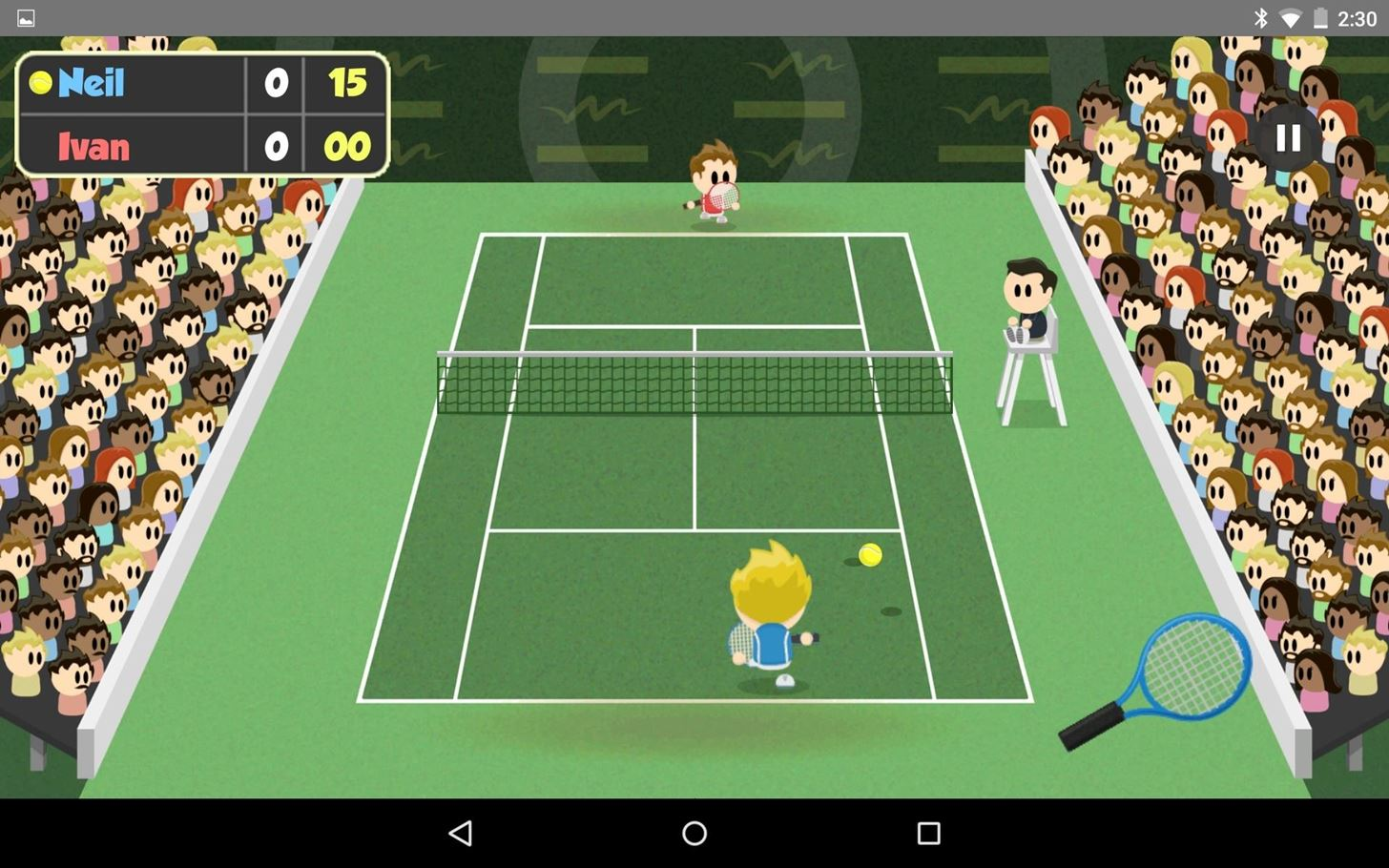 This Game Turns a Second Android Device into a Tennis Racket, Wiimote-Style