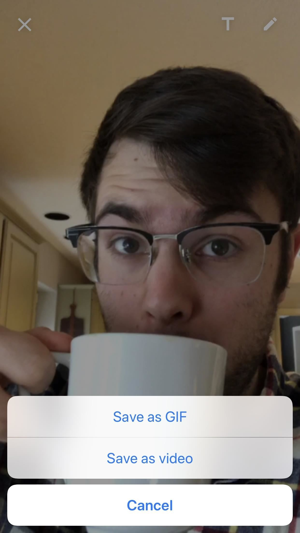 How to Reply to Texts with a Selfie GIF on Your iPhone