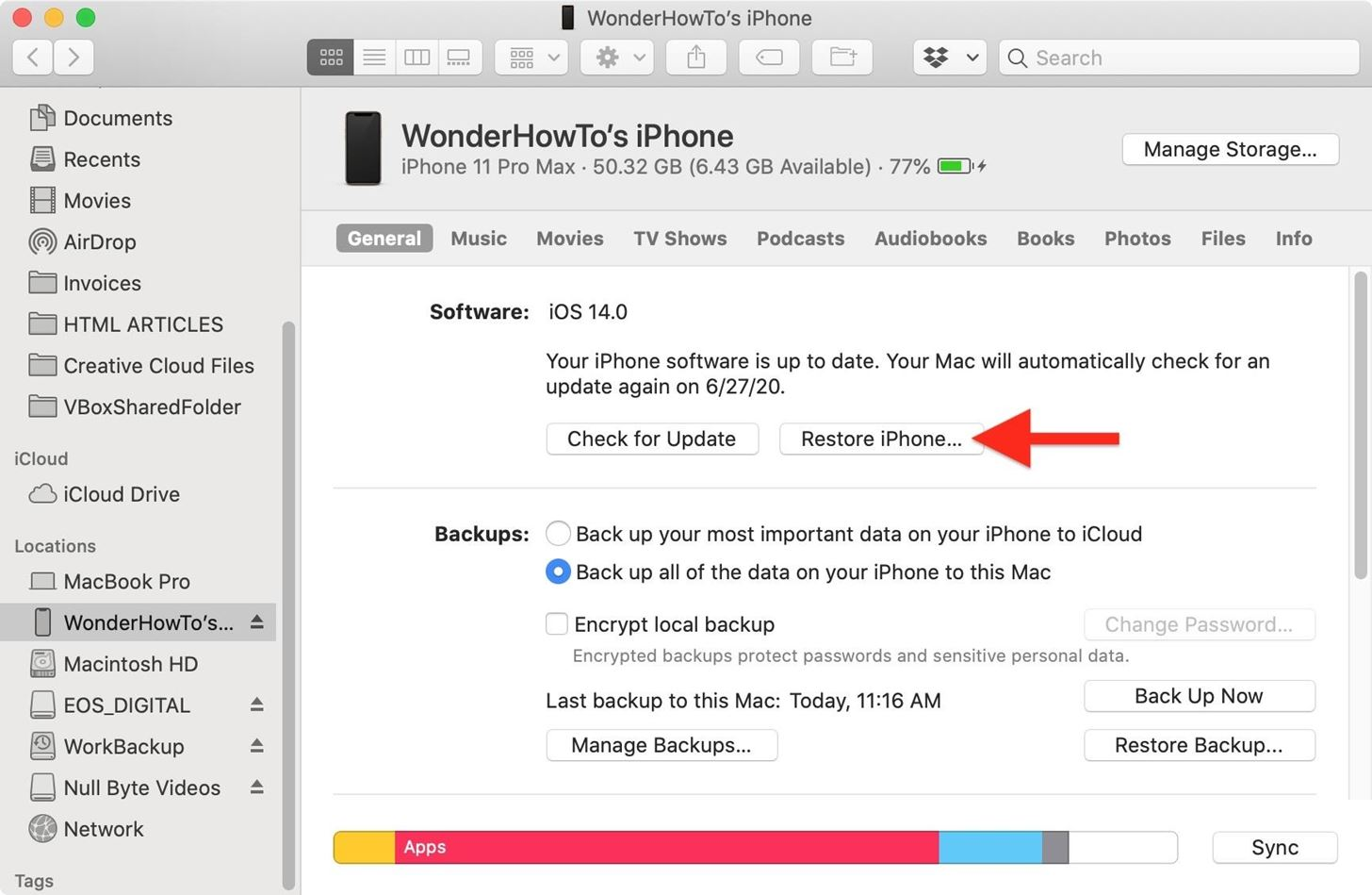 How to Downgrade iOS 14 Back to iOS 13.5.1 on Your iPhone Using Finder or iTunes