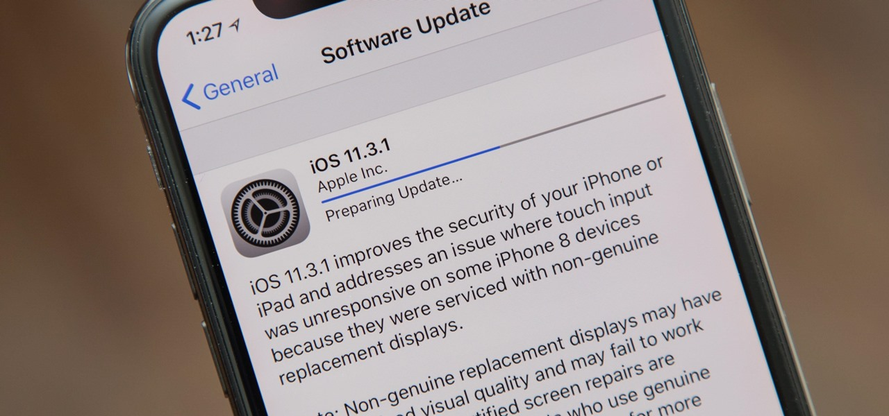 iOS 11.3.1 Released for iPhones with Third-Party Display Repair Patch & Security Fixes