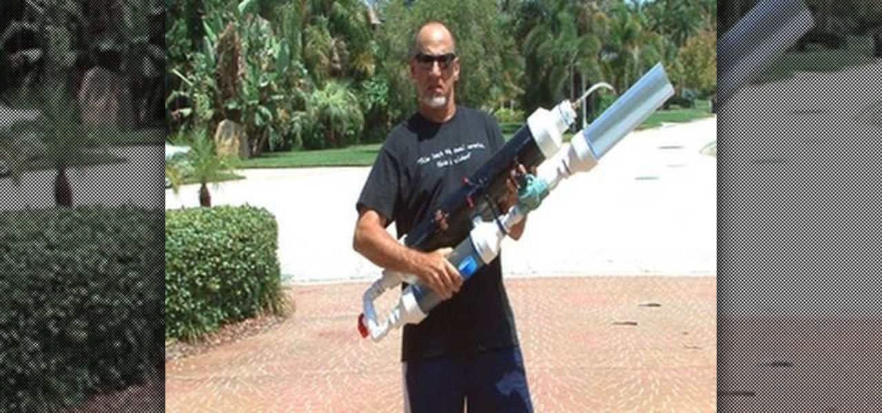 How to Build a high-powered air cannon that shoots rolled up