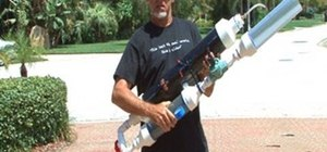 Build a high-powered air cannon that shoots rolled up T-shirts