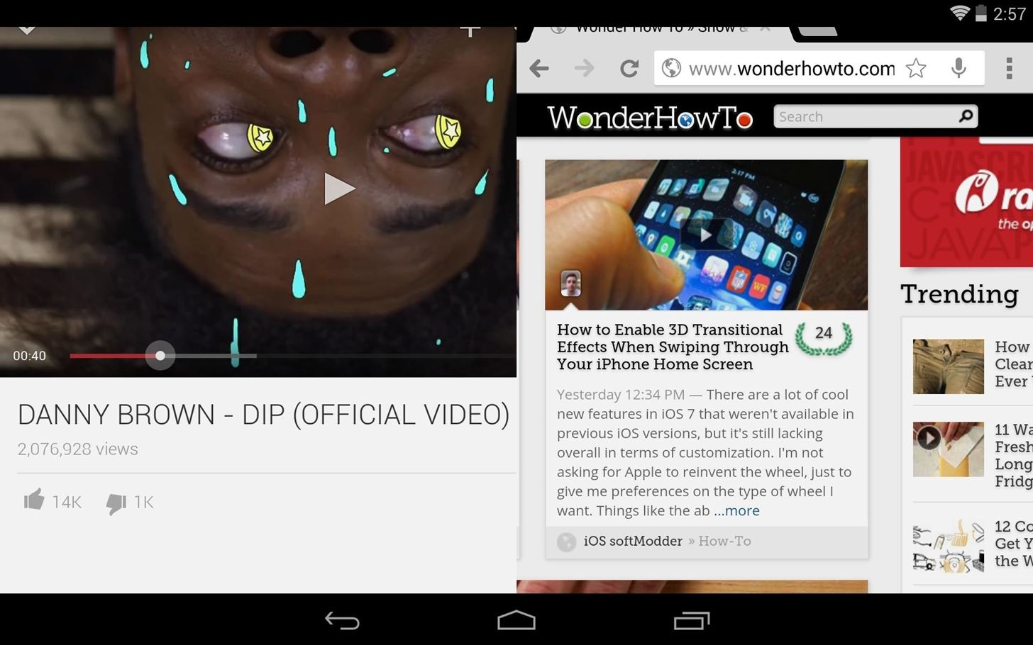 Split Screen Multitasking: How to Run 2 Apps in Separate Windows on Your Nexus 7 Simultaneously