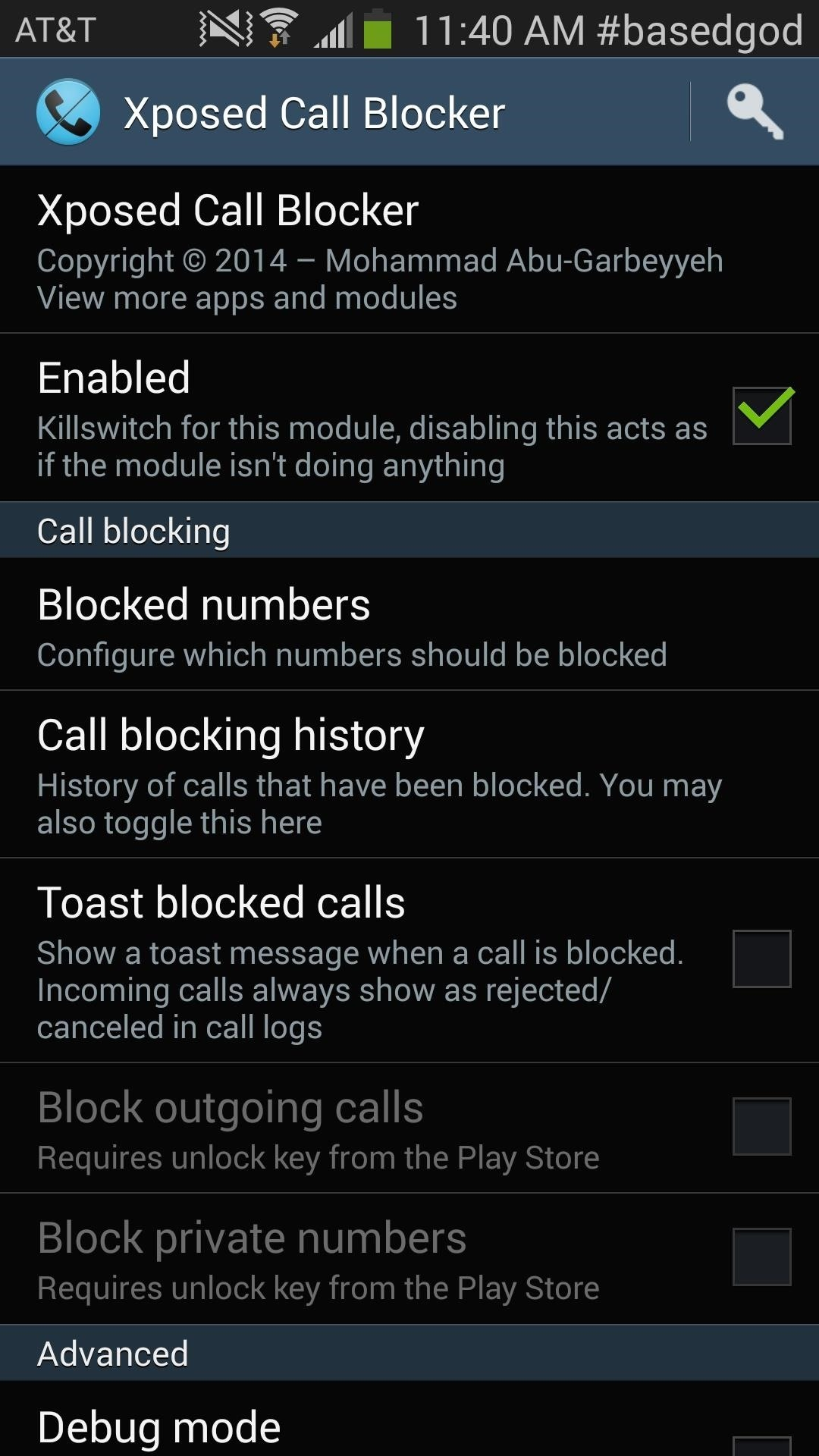 In Order To Block Calls, Head Over To Xposed Call Blocker And Select
