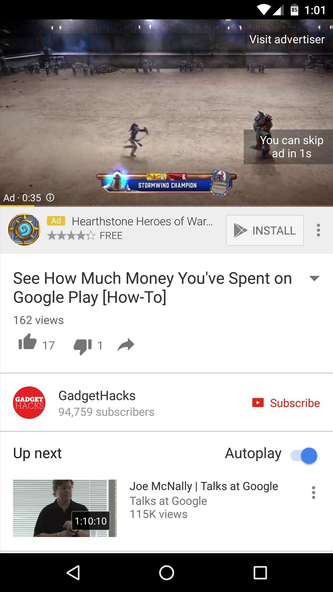 How to automatically skip youtube ads on androidwithout rooting and if you opted to leave the mute audio option enabled you wont even hear the ad during the brief time its visiblehow cool is that ccuart Images