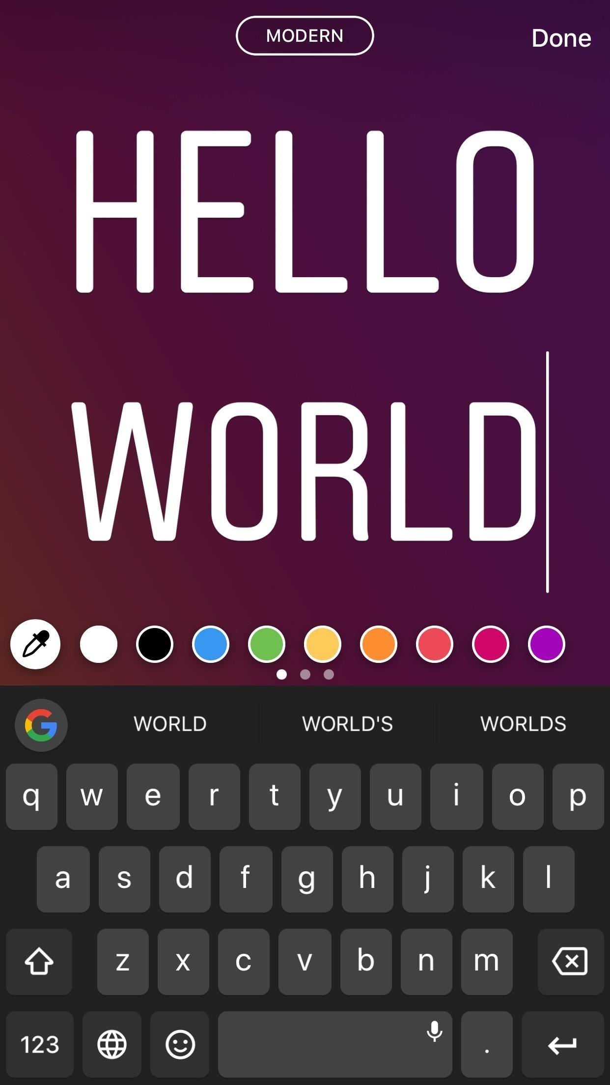 Instagram 101: How to Use Type Mode for Colorful Text-Only Stories