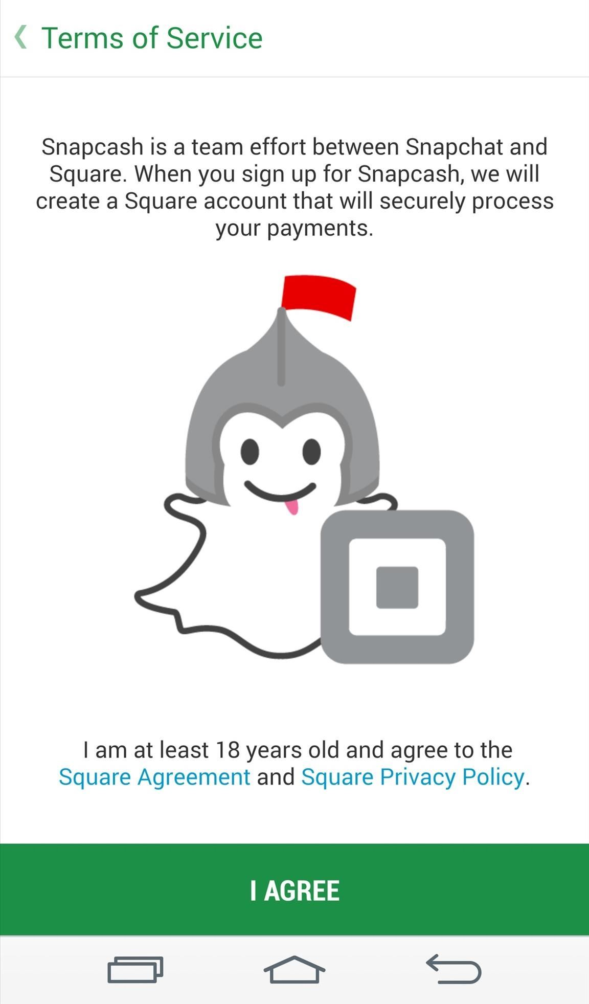Snapcash: Send Money to Friends Directly in Snapchat