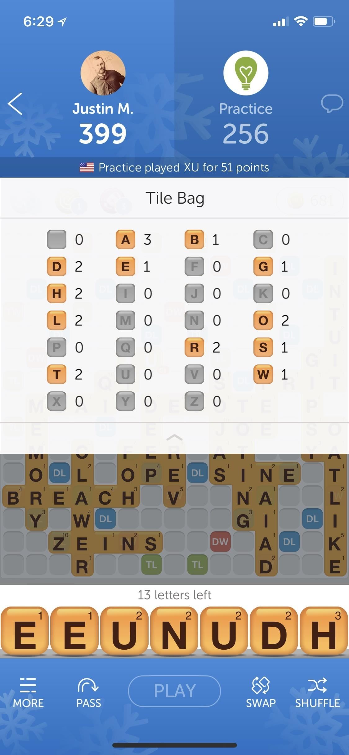How to use the Pouch with the Remaining Tiles to Score High in Words with Friends