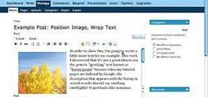 Wrap text around an image in WordPress