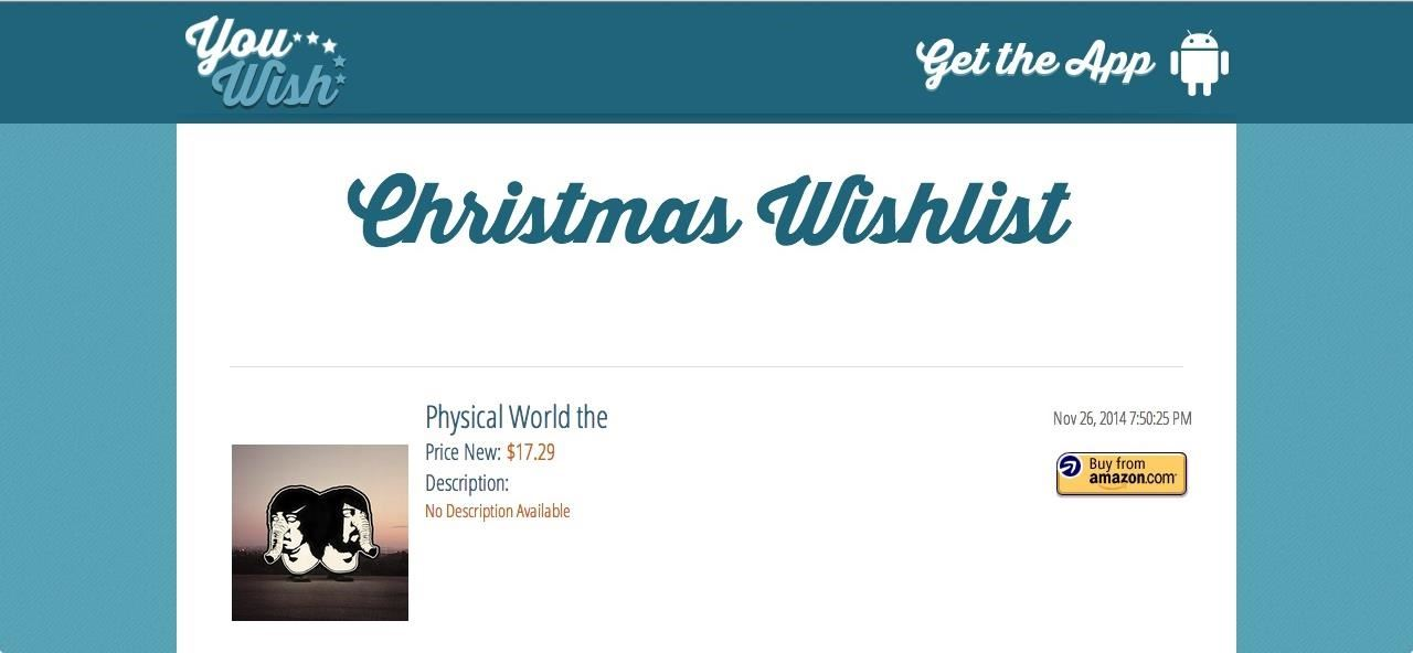 YouWish for Android Lets You Create & Share Your Christmas Wish List with Anyone