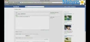 Create a new note on Facebook