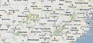 Find longitude and latitude coordinates in Google Maps