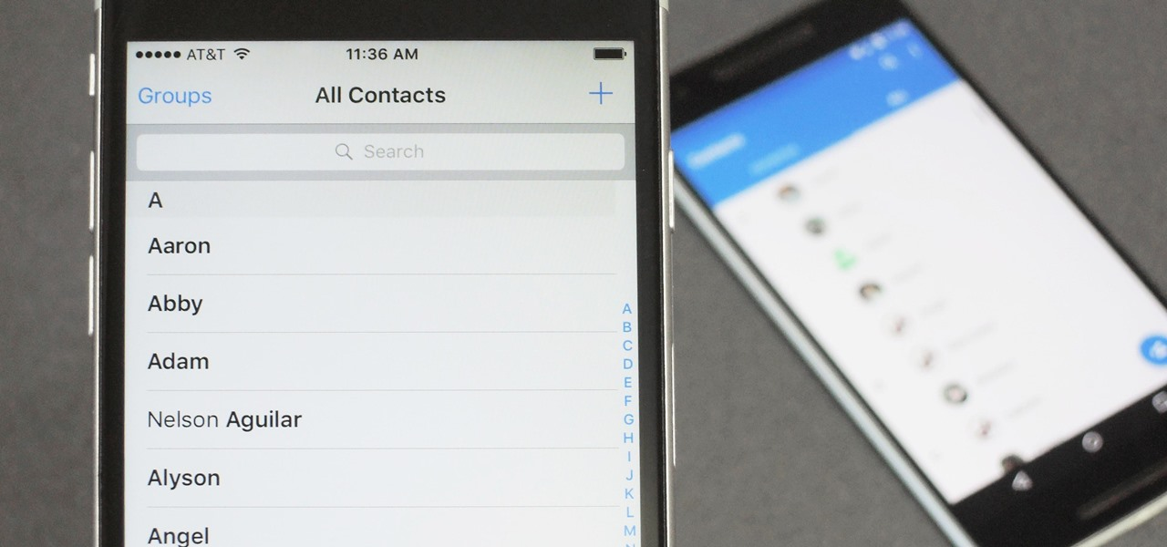 Transfer Your Android Contacts to iPhone