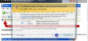 Install Adobe Shockwave Player on Internet Explorer 8