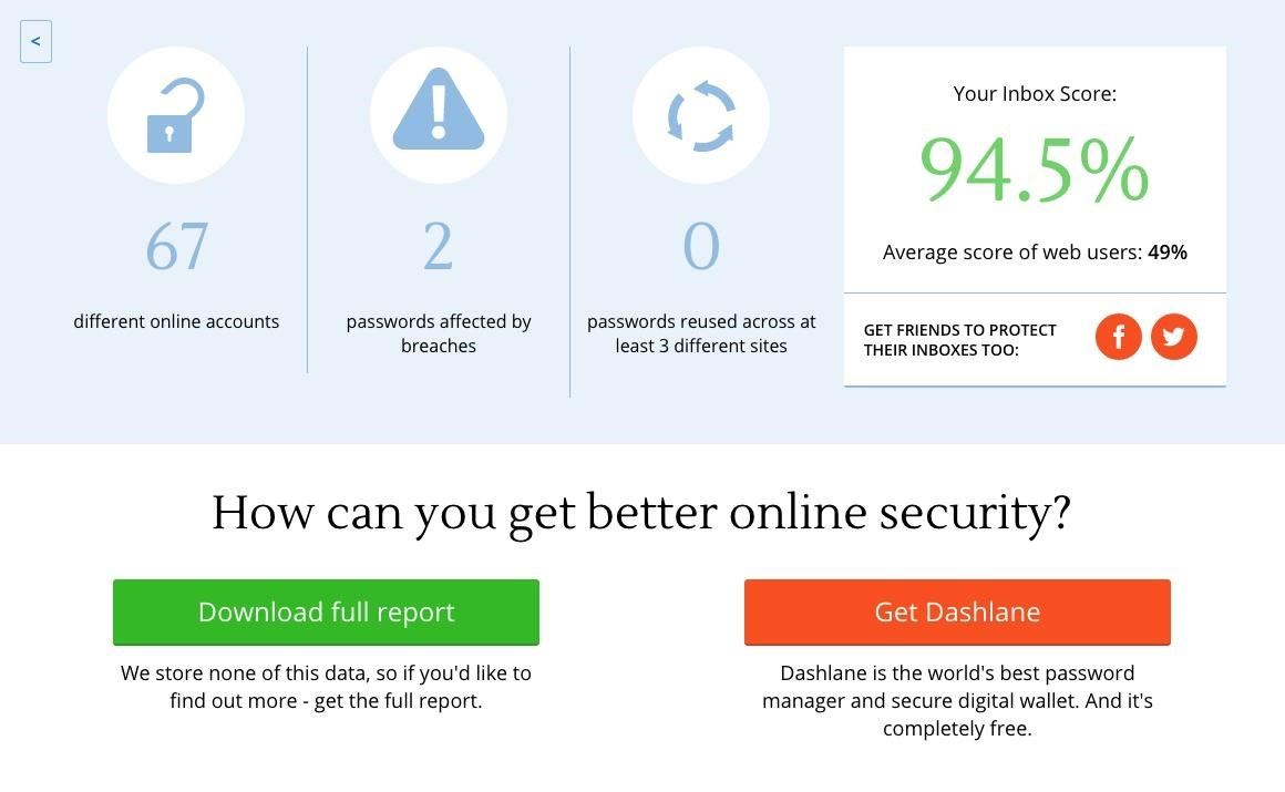 Purge Your Inbox of Account Passwords with Dashlane's Email Security Scanner