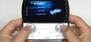 Play games on the Xperia Play smartphone using apps and the slide-out gamepad