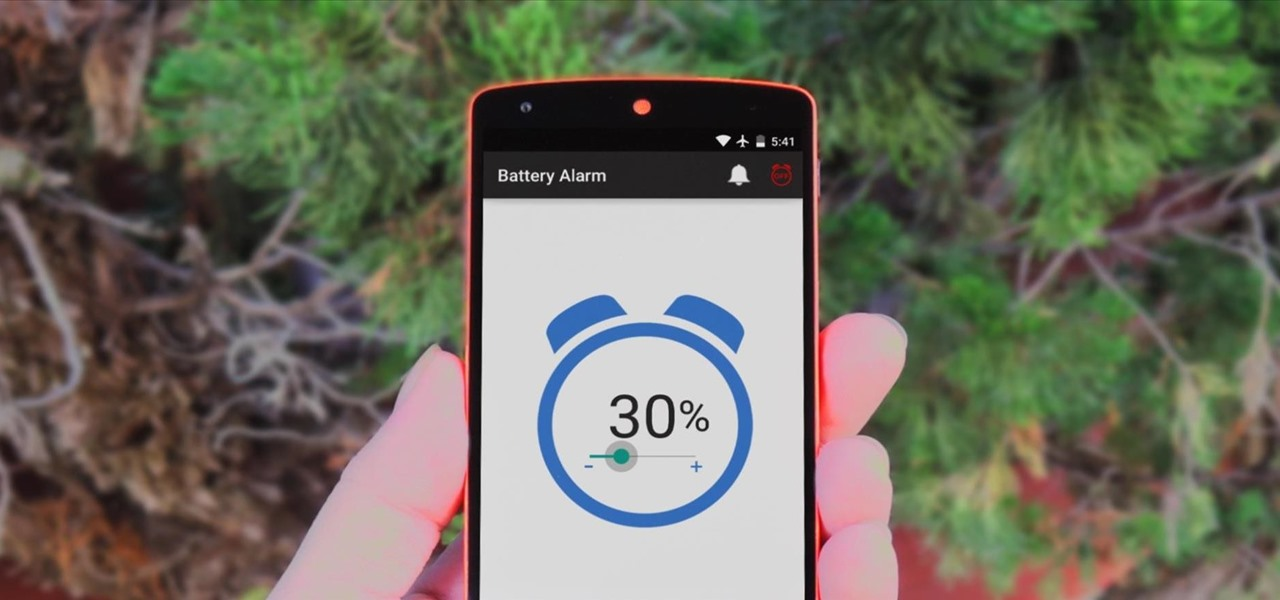 Make Your Android Device Notify You at Any Battery Level