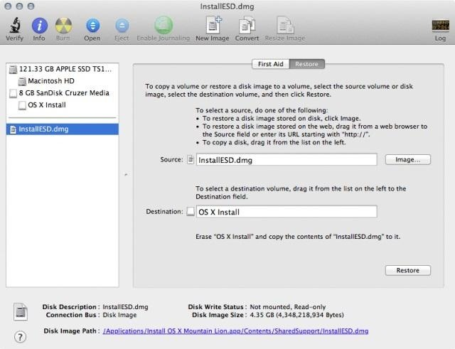 How to Create a Bootable Install DVD or USB Drive of OS X 10.8 Mountain Lion