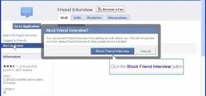 Block friend interview on Facebook