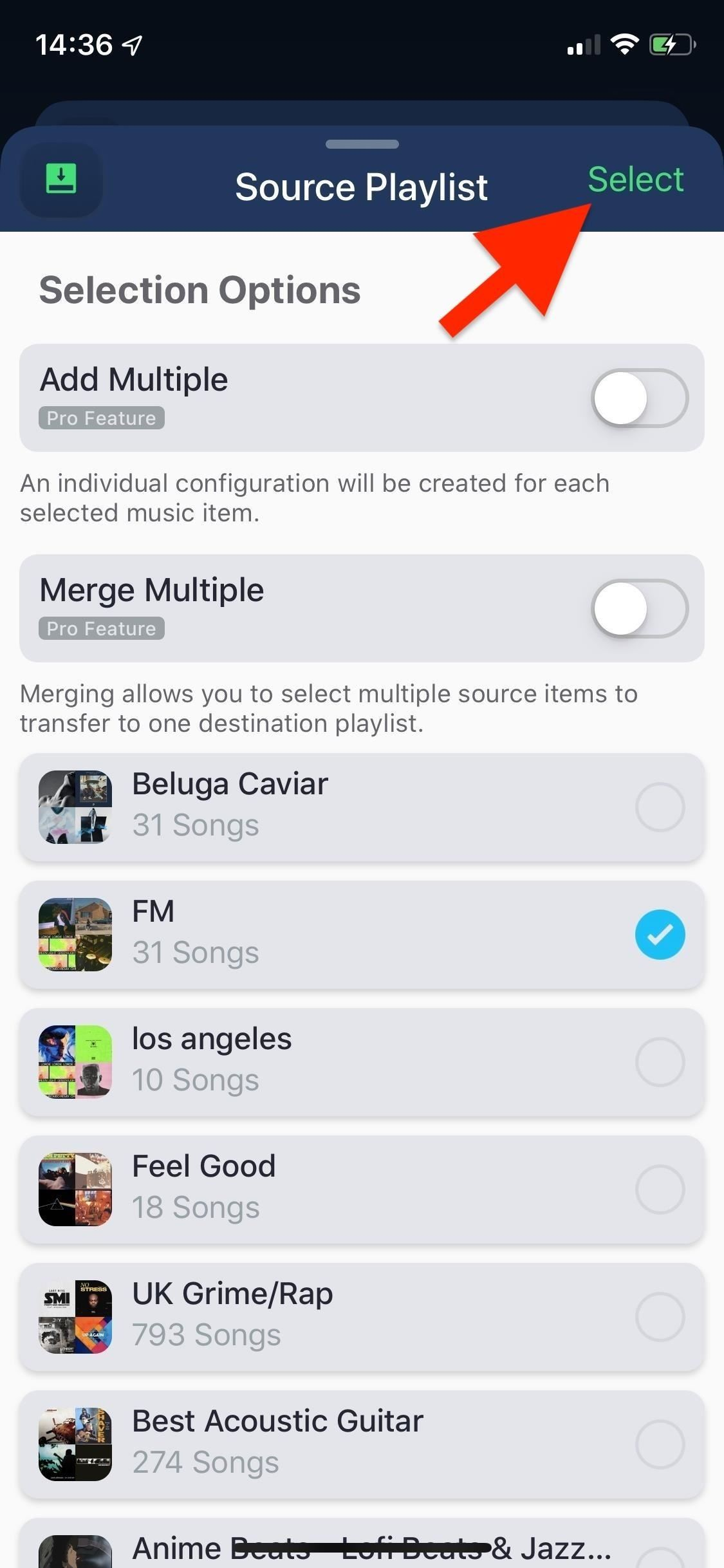 To transfer your Spotify playlists from an iPhone or Android phone to Apple Music