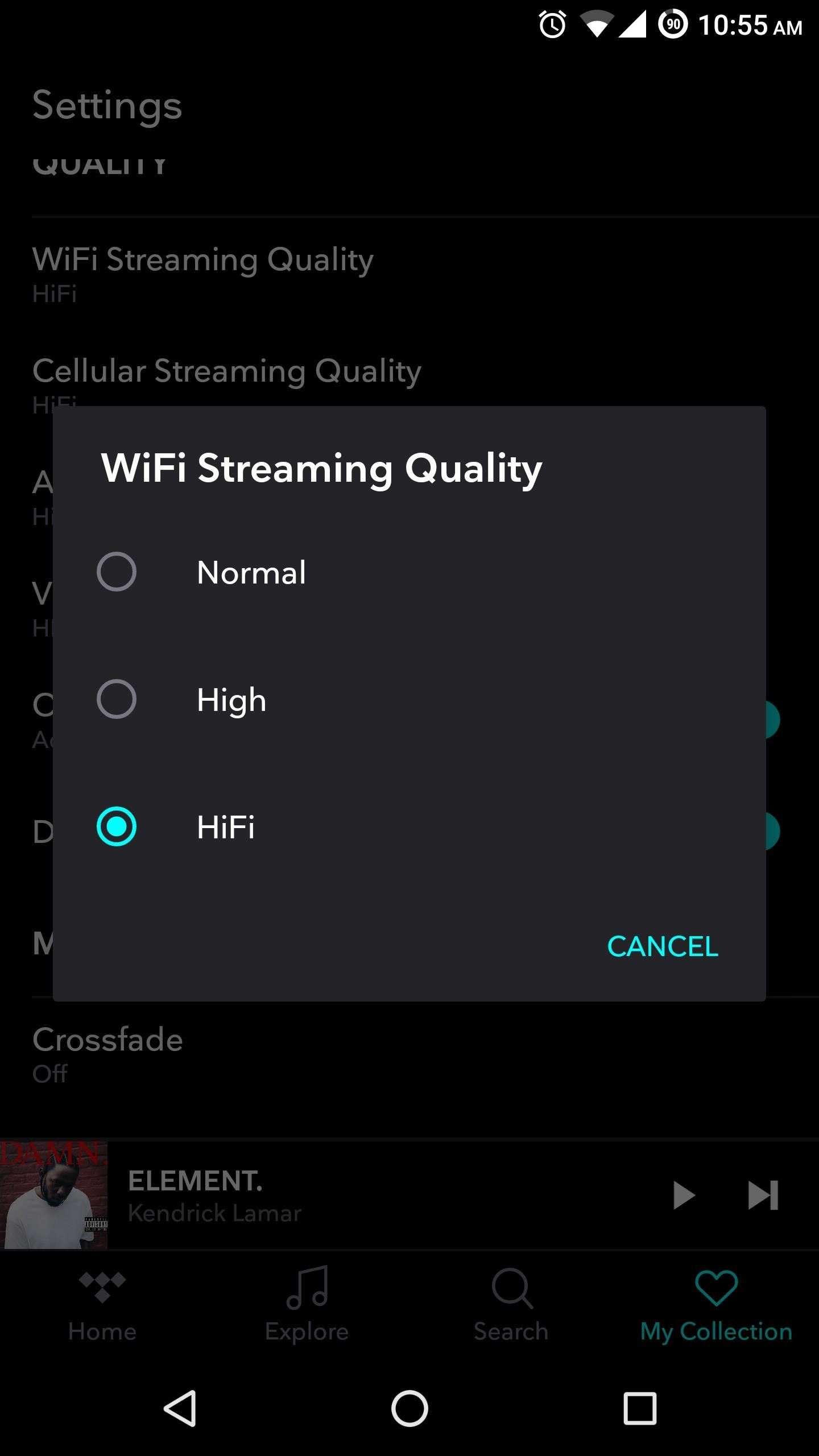 TIDAL 101: How to Adjust the Quality of Streaming or