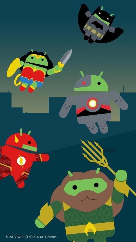 These Wallpapers Come Courtesy Of Googles Promotion For The Justice League Movie Within Android Pay App Promo Allows Users To Collect
