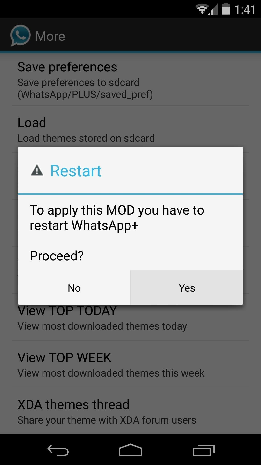 Theme WhatsApp with Android L's Material Design