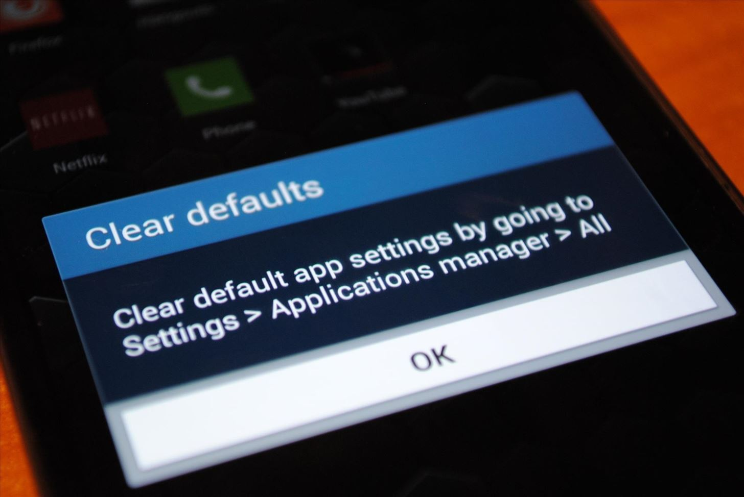 "How to Disable the ""Clear Defaults"" Popup Alert When Setting Default Apps on Your Samsung Galaxy S4"